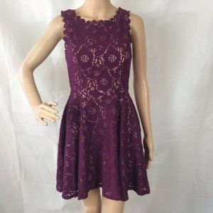 🏷 City Studio Dress Size 3 Purple Lined